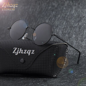552cd38dd34c2 Men's Polarized Granny Glasses Round Metal Eyewear Teashades Driving ...