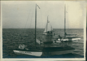 Egypt-Kasfareet-The-Sailing-Club-Vintage-silver-print-Photo-originated-from