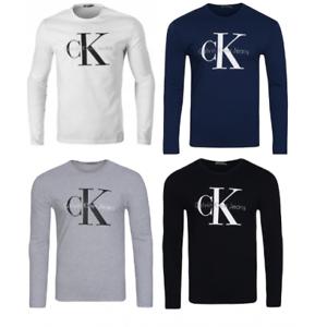 Calvin-Klein-CK-camisa-manga-larga-camisetas-Para-Hombre-Top-Negro-Azul-Gris-L-XL-XXL-venta