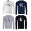 Calvin-Klein-CK-camisa-manga-larga-camisetas-Para-Hombre-Top-Negro-Azul-Gris-L-XL-XXL-venta miniatura 1