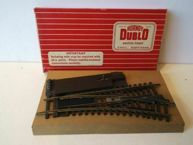K108 HORNBY DUBLO 2728 OO 2 RAIL ISOLATING SWITCH POINT R//H BOXED