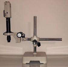 SISTEMA DI VISIONE ISPEZIONE MICROSCOPIO PCB SMD NIKON NAVITAR LENS FOCUSING ARM