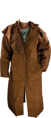 Cappotto polvere duster MONTALA Cappotto Pioggia Cappotto Impermeabile Marrone S 5xl