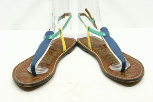 57cd5ac05c6987 2 of 12 Sam Edelman GIGI Minimalist Womens Sandals SZ 6.5 Colorblock  Leather Ankle Strap
