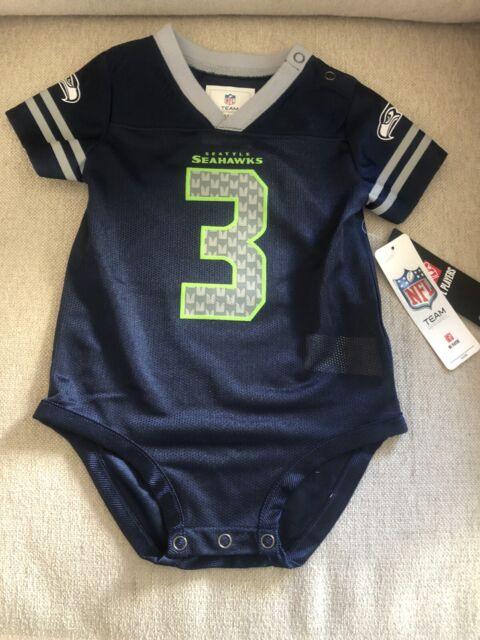 Seattle Seahawks #3 Russell Wilson Jersey 1-piece Bodysuit 3 - 18 Month