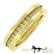 bvlgari bulgari bzero1 pave diamonds one band 18k rose gold ring size 52