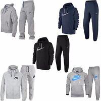 Nike Mens Full Tracksuit Fleece Zip Up Hoody Joggers Bottoms Pants S-xxl