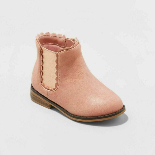 girls pink chelsea boots