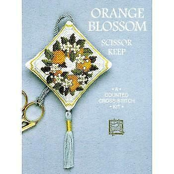 Orange Blossom Scissor Keep Counted Cross Stitch Kit by Textile Heritage