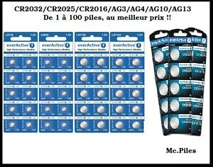 Lots-piles-boutons-alcalines-AG3-4-10-13-1-5V-CR2032-2025-2016-3V-Everactive