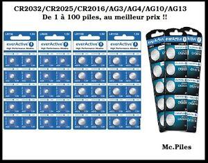 piles boutons alcaline ag3 ag4 ag10 ag13 1 5v cr2032 2025 2016 3v everactive ebay. Black Bedroom Furniture Sets. Home Design Ideas