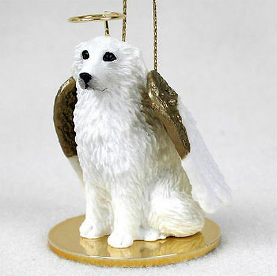 GREAT PYRENEES dog TiNY FIGURINE resin HAND PAINTED MINIATURE Small MINI puppy