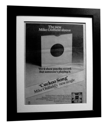 MIKE OLDFIELD+Cuckoo Song+POSTER+AD+FRAMED+1977+RARE ORIGINAL+FAST GLOBAL SHIP