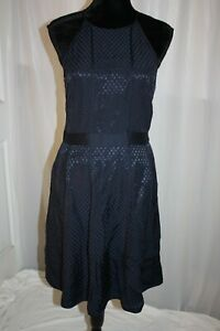 NWT-Banana-Republic-Women-039-s-Dress-Corporate-sleeveless-Summer-Navy-Blue-size-6