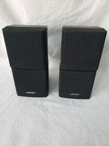 Bose Double Cube Speakers Pair (2 total) Lifestyle/Acoustimass Black Swivel...