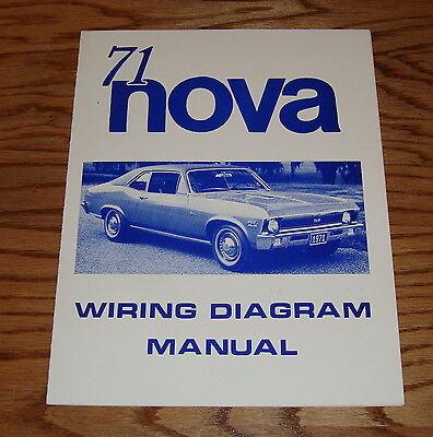 1971 Chevrolet Chevy II Nova Wiring Diagram Manual 71 | eBay