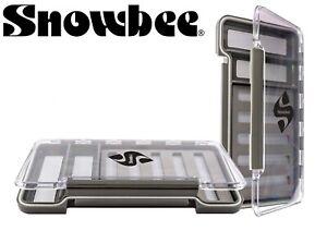 Snowbee-Slimline-Uni-Fly-Box-14754-Slit-Foam-2-Magnetic-Compartments-Fishing