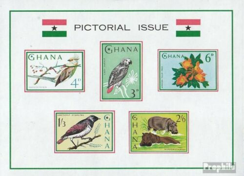 Ghana block15 complete.issue. unmounted mint never hinged 1964 Flora and Flo