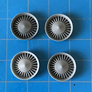 Resin-Set-of-4-1957-57-1958-58-1959-59-Cadillac-Sabre-Spoke-Hubcaps-Shallow-Cone