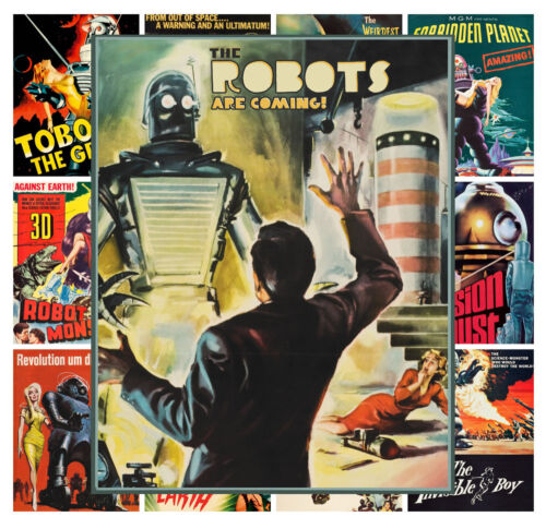 "Robot Sci Fi Alien Vintage Trash Movie MP453 13 posters 8/""x11/""//A4 Mini Posters"