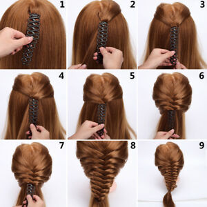 Professional-French-Braid-Plait-Hair-Braiding-Tool-Roller-Black-Bun-Twist-Style