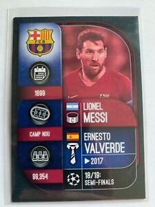 2019-20 FC BARCELONA Lional Messi Valverde Topps Match Attax Soccer Card