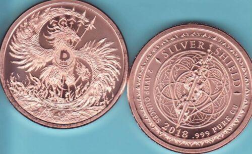 2 oz MARK of the BEAST  Copper Round  MINI MINTAGE  #77  Silver Shield  2018