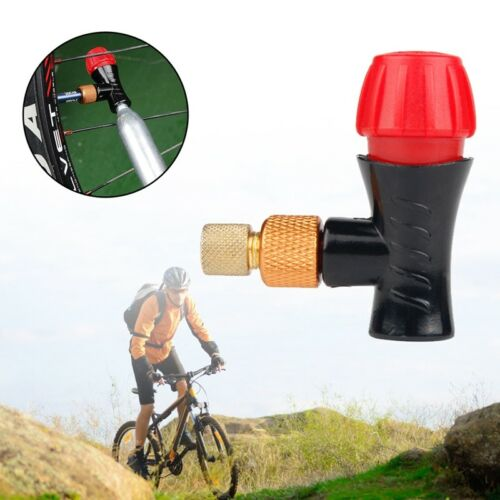 Fits Presta Schrader Valve CO2 Pump Accessory Bicycle Inflator Head Compatible