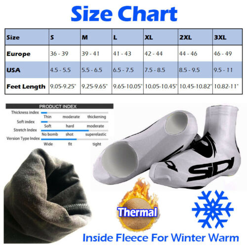 Thermal Cycling Shoes Cover Winter Fleece Road Race Over Sports Bike Ride Gear