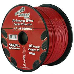 500/' FT Spool Of Red 18 Gauge AWG Feet Home Primary Power Cable Remote Wire