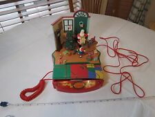 1980's Vintage Christmas telephone music box Santa Clause workshop phone PF RARE