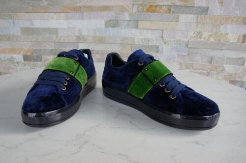 Form Veterschoenen 35 Prada Fluwelen Velcro Schoenen Nieuw Sneakers 1e983h Blauw 650 € Uvp 5 CBWxrdeo