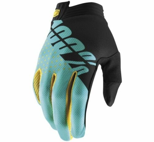 100/% Men/'s iTrack Gloves M Black//Aqua 10015-215-11