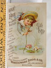 Whittemore Bros & Co Gilt Edge Gloss Dressing Ladies Shoes Water Lilies Boy F38