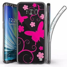 For Samsung Galaxy S8 Plus,Tri Max Transparent Full Body Case Cover BUTTERFLIES