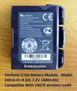 Verifone Li-Ion Battery Pack for VX670 Wireless Terminal - Model 24016-01-R