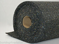 Rubber Floor Underlayment 4 Ft X 50 Ft, 2mm Thick Sound Absorbing Impact Control