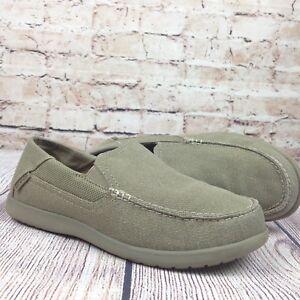 549c750ae85e8 Crocs Men s Santa Cruz 2 Luxe Slip On Loafers Size 7 Khaki Beige Tan ...