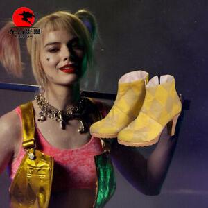 Birds Of Prey Cosplay Costume Shoes Harley Quinn Joker Boots Women Halloween Ebay