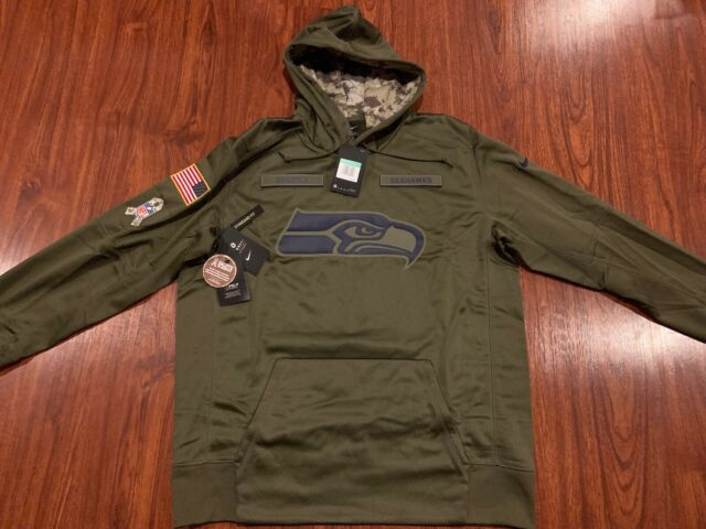 best website 4bf8c 33521 Nike Men's Seattle Seahawks Salute To Service Therma Hoodie Sweatshirt XL  NFL