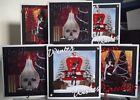 handmade mini gothic christmas cards set 2, a choice of one or set of six