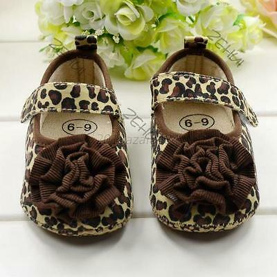 Kids Toddler Baby Girls Fashion Leopard Soft Sole Crib Shoes Sneaker 3-12M A44