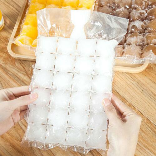 10X24grilles jetables sacs à glace bac à glaçons congelé moule auto-étanchéité k