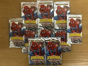Spiderman-Heroes-And-Villains-Factory-Sealed-Packet-x10