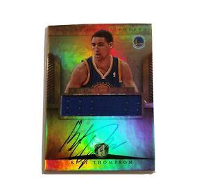 Klay Thompson Panini Gold Standard Rookie Jersey Autograph 2012-13