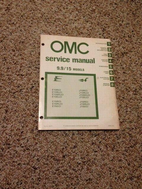 1980 Omc Service Manual 9 9    15 Models 392071  Incl