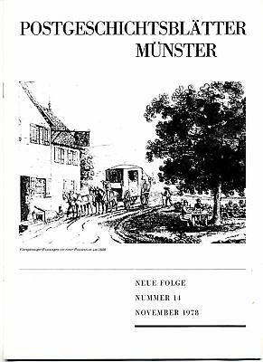 Angemessen Postgeschichtsbl. MÜnster 1978,h.14 -bemerkungen Zum Sammeln Von Postscheinen
