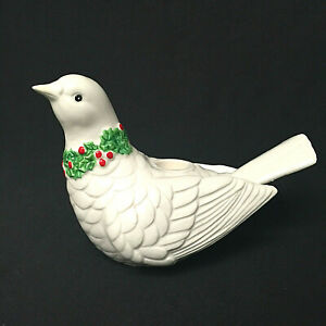 Vintage-Fitz-And-Floyd-Christmas-Dove-Votive-Candle-Holder-Berry-Japan-1976