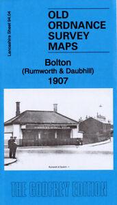OLD ORDNANCE SURVEY MAP BOLTON RUMWORTH DAUBHILL 1907