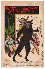 KRAMPUS St Nikolaus Dark Servant  Austria 1899 Postcard